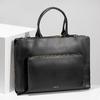 Černá kožená kabelka vhodná na dokumenty royal-republiq, černá, 964-6092 - 17