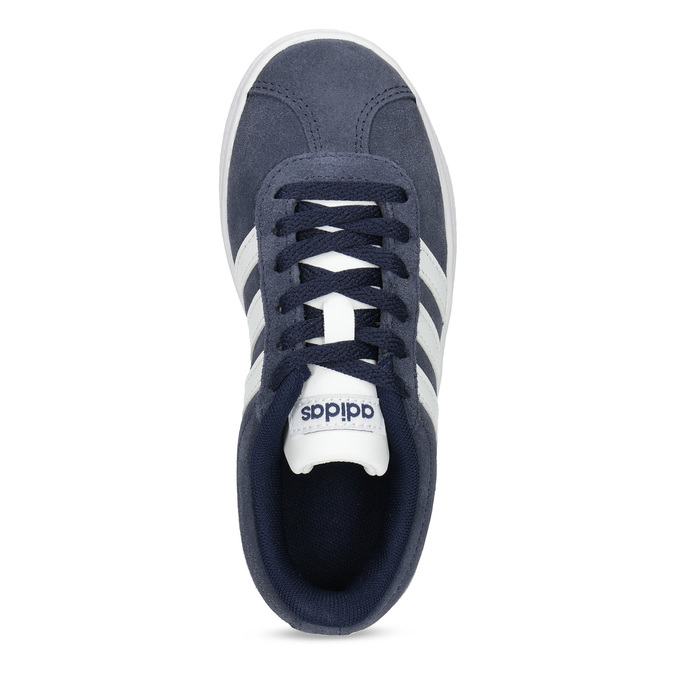Dětské tenisky z broušené kůže šedé adidas, modrá, 303-9212 - 17