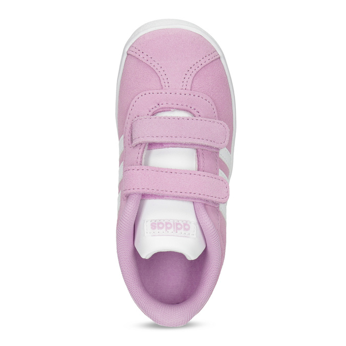 Růžové kožené dětské tenisky adidas, růžová, 103-5203 - 17