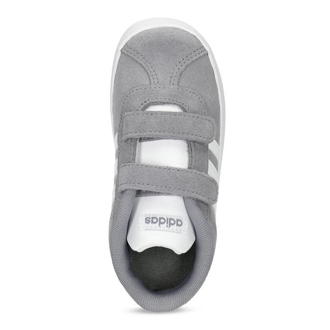 Šedé dětské tenisky z broušené kůže adidas, šedá, 103-2203 - 17