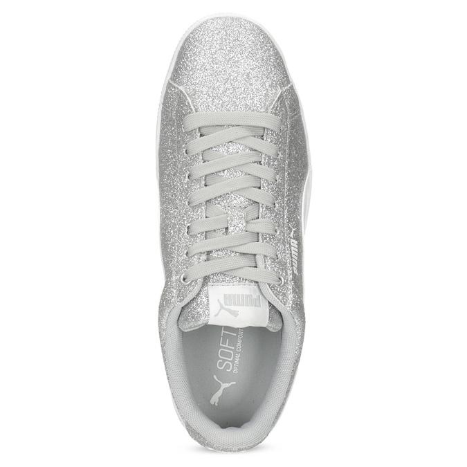 Dětské třpytivé tenisky na flatformě puma, stříbrná, 401-2392 - 17