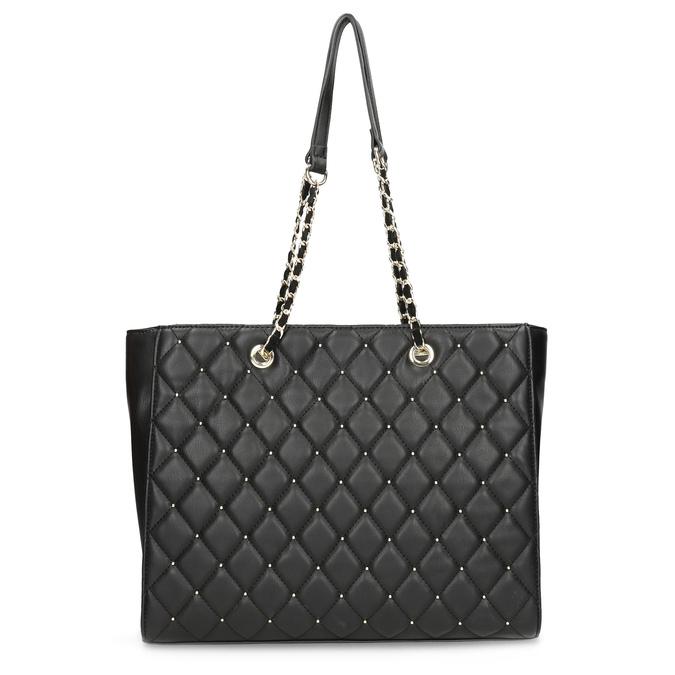 Černá prošívaná kabelka se zlatým řetízkem bata, černá, 961-6908 - 26