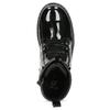 Zimní lesklá kotníčková obuv dívčí mini-b, černá, 391-6170 - 17