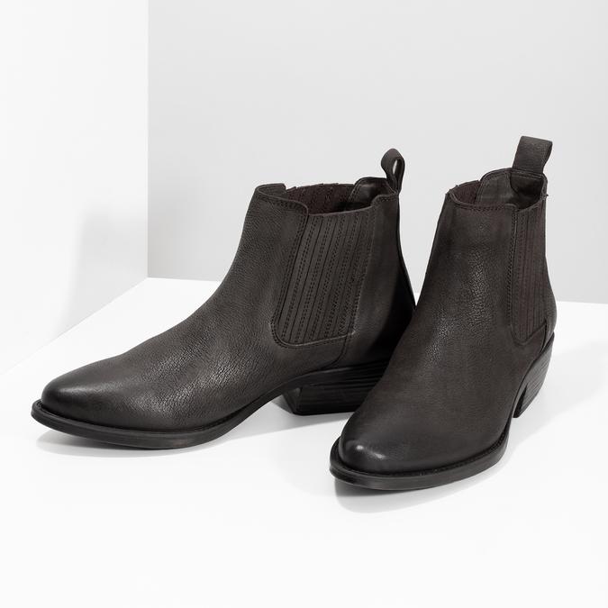 Dámská kotníčková obuv s pružením hnědá bata, hnědá, 596-4969 - 16