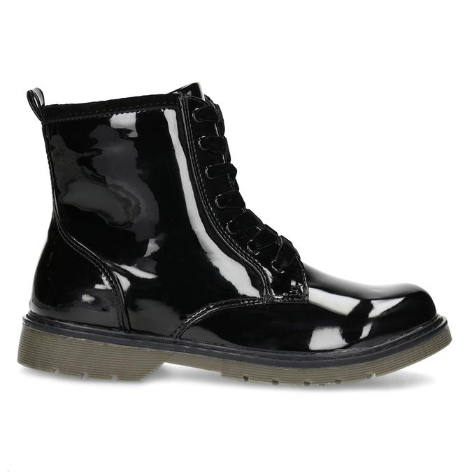 Dívčí kotníčková obuv černá lesklá mini-b, černá, 391-6259 - 19