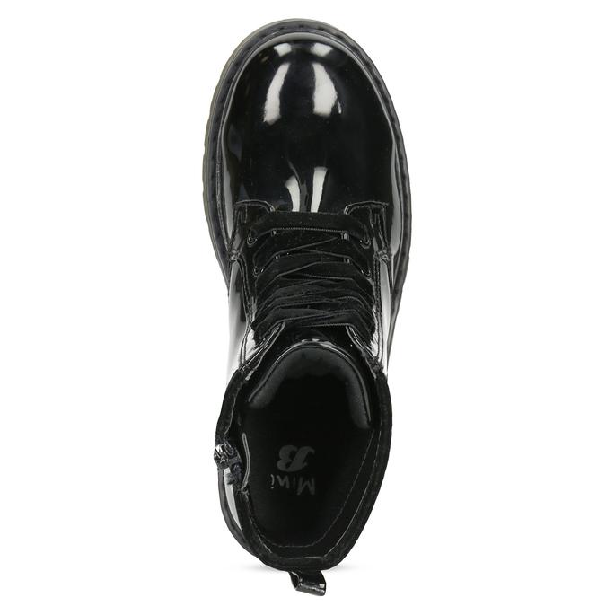 Dívčí kotníčková obuv černá lesklá mini-b, černá, 391-6259 - 17