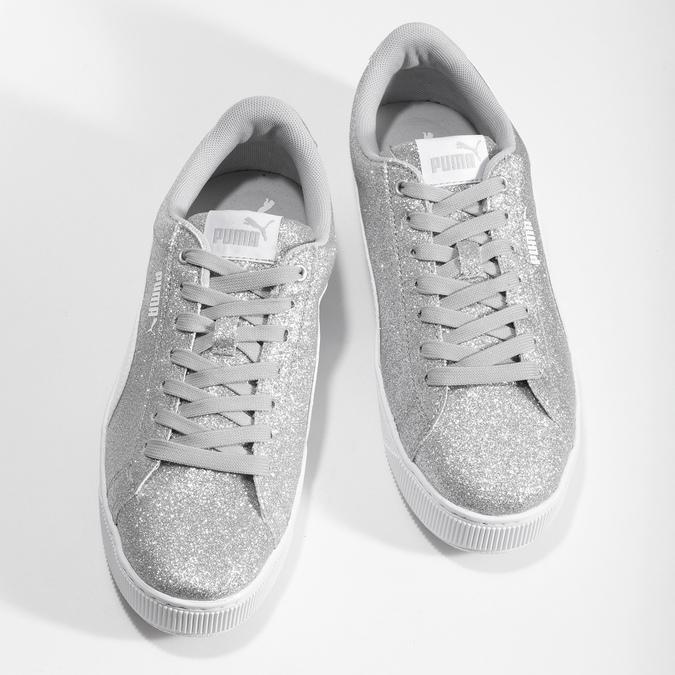 Dětské třpytivé tenisky na flatformě puma, stříbrná, 401-2392 - 16
