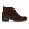Vínová kožená kotníčková obuv gabor, červená, 623-5029 - 19