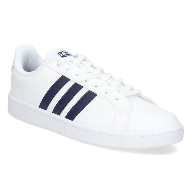 Pánské bílé ležérní tenisky adidas, bílá, 801-9378 - 13