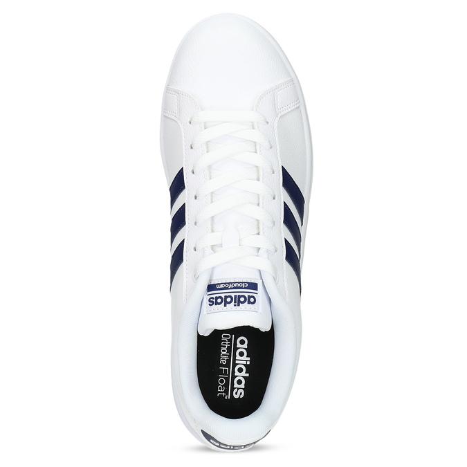 Pánské bílé ležérní tenisky adidas, bílá, 801-9378 - 17