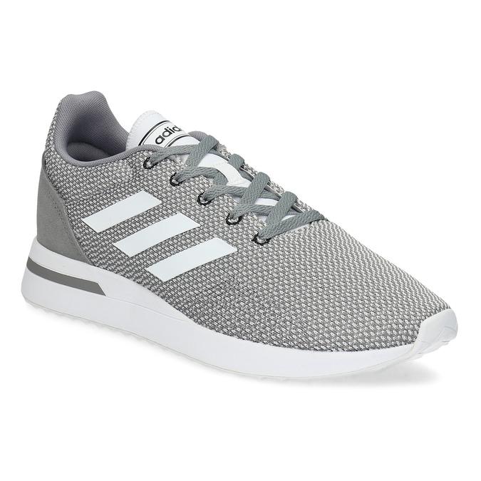 Pánské šedé tenisky s bílými detaily adidas, šedá, 809-2163 - 13