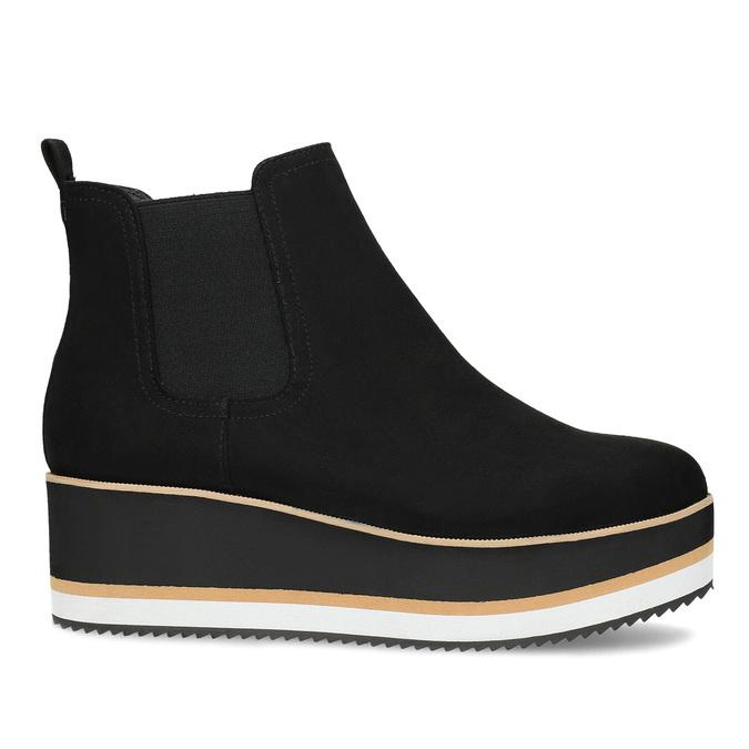 Dámská Chelsea obuv na flatformě bata, černá, 699-6638 - 19