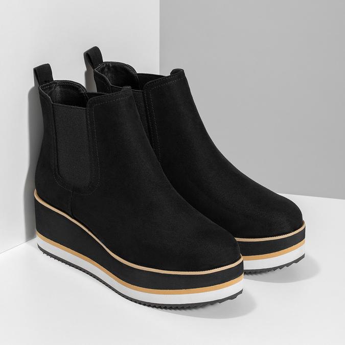 Dámská Chelsea obuv na flatformě bata, černá, 699-6638 - 26