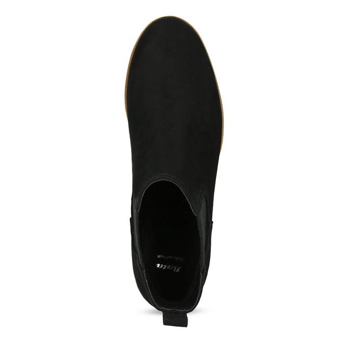 Dámská Chelsea obuv na flatformě bata, černá, 699-6638 - 17