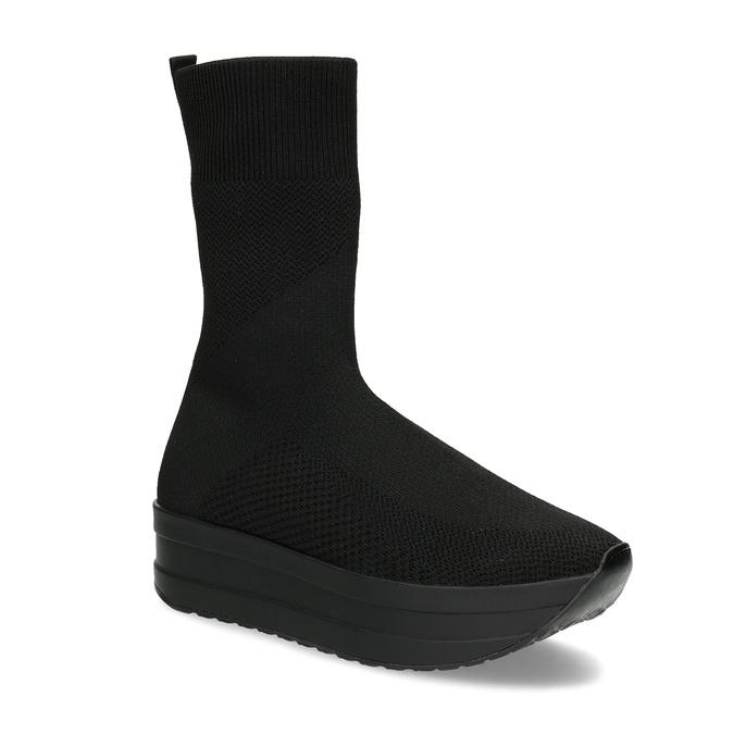 Dámská černá kotníčková obuv vagabond, černá, 719-6050 - 13