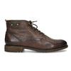 Kotníčková obuv s vázáním pánská bugatti, hnědá, 826-4056 - 19