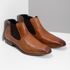 Hnědá pánská kožená Chelsea obuv bugatti, hnědá, 816-3014 - 26