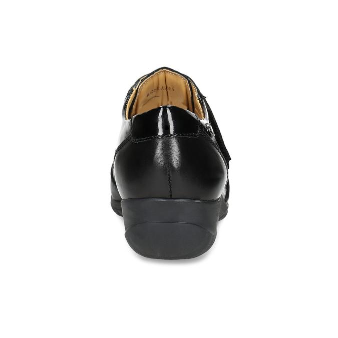 Kožené ležérní tenisky na suché zipy comfit, černá, 624-6160 - 15