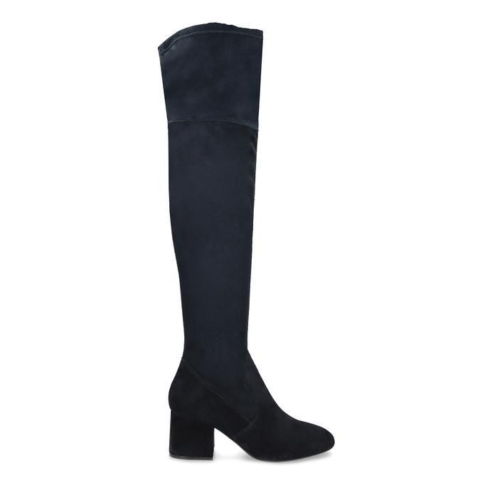 Modré dámské kozačky nad kolena bata, modrá, 793-9614 - 19