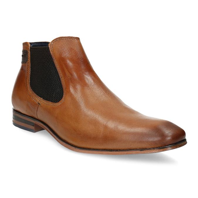 Hnědá pánská kožená Chelsea obuv bugatti, hnědá, 816-3014 - 13