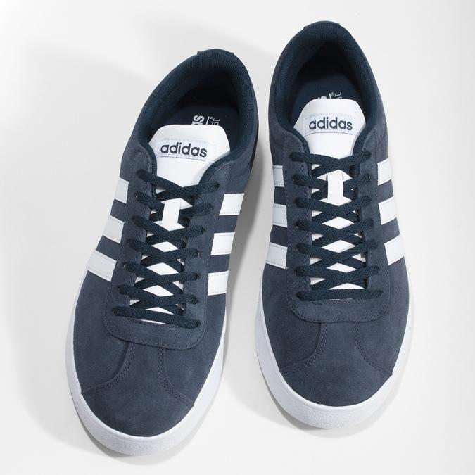 Pánské tenisky z broušené kůže adidas, modrá, 803-9379 - 16