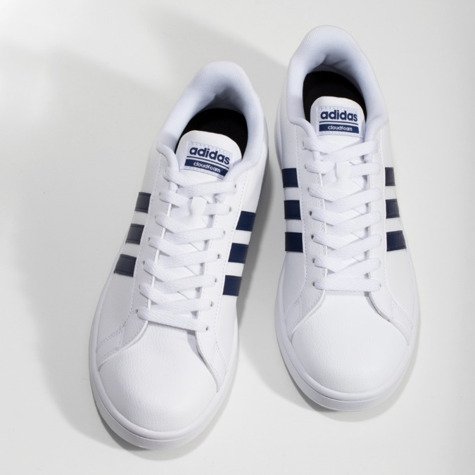 Pánské bílé ležérní tenisky adidas, bílá, 801-9378 - 16