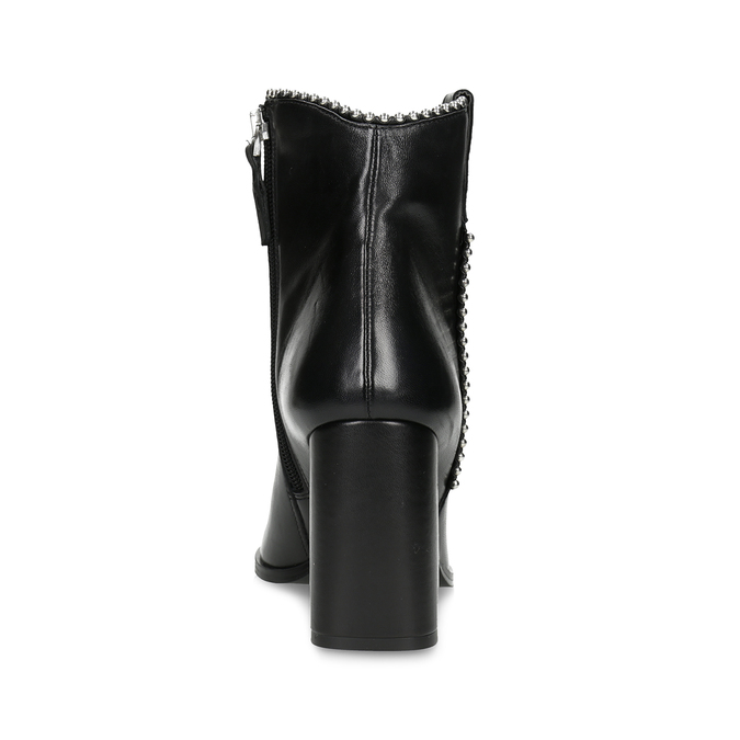 Dámská kožená obuv do špičky bata, černá, 796-6658 - 15