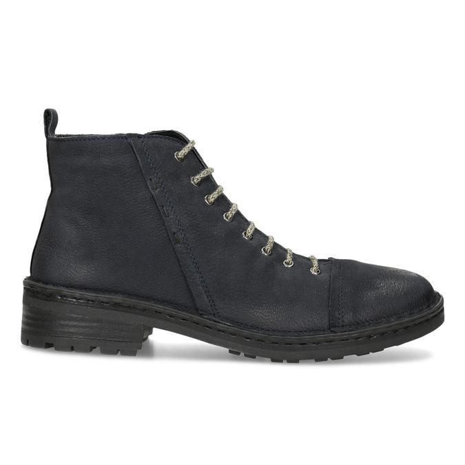 Kožená dámská kotníčková obuv bata, modrá, 596-9709 - 19