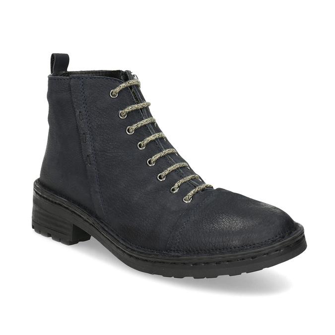 Kožená dámská kotníčková obuv bata, modrá, 596-9709 - 13