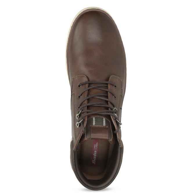 Pánská kotníčková obuv tmavě hnědá bata-red-label, hnědá, 821-4602 - 17