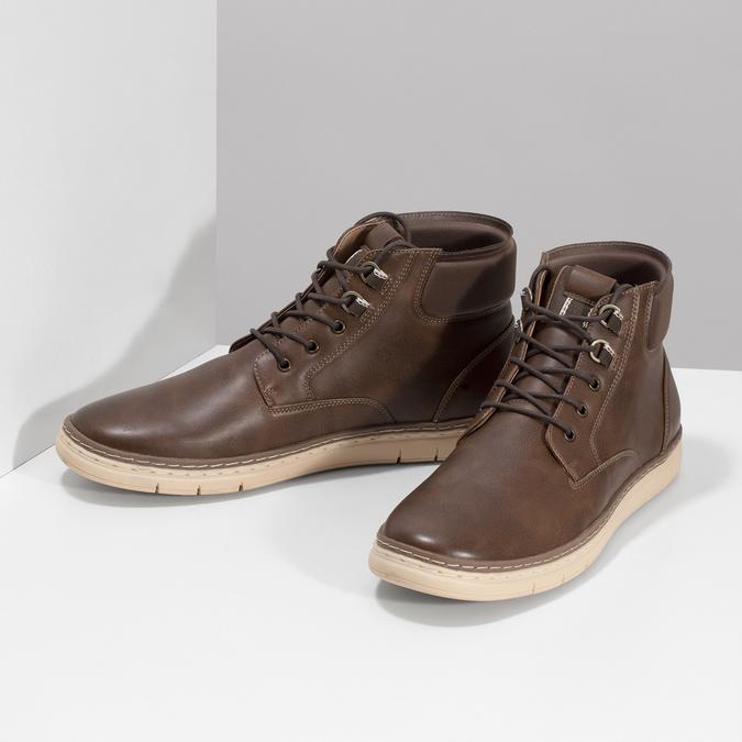 Pánská kotníčková obuv tmavě hnědá bata-red-label, hnědá, 821-4602 - 16
