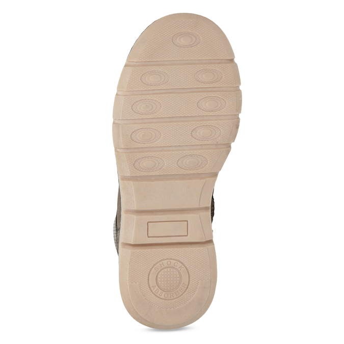 Hnědá dětská kotníčková obuv na zip mini-b, hnědá, 311-4614 - 18