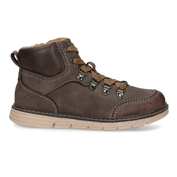 Hnědá dětská kotníčková obuv na zip mini-b, hnědá, 311-4614 - 19