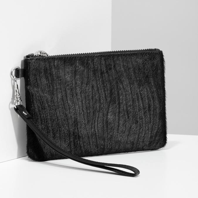 Kožená kapsička s kožešinkou bata, černá, 944-6227 - 17