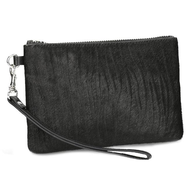 Kožená kapsička s kožešinkou bata, černá, 944-6227 - 13