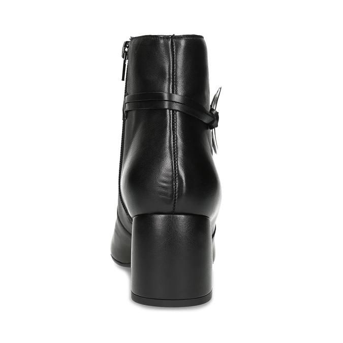 Kožená dámská kotníčková obuv bata, černá, 694-6665 - 15