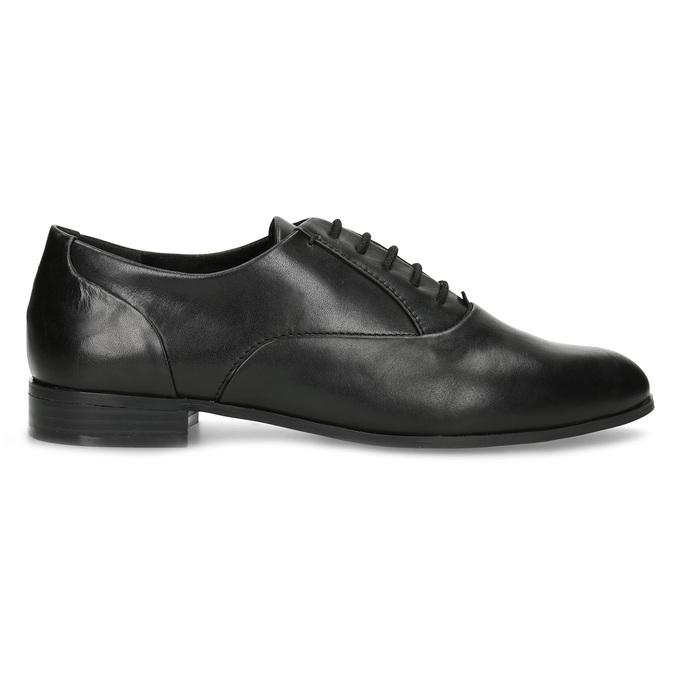 Dámské kožené černé Oxfordky bata, černá, 524-6668 - 19