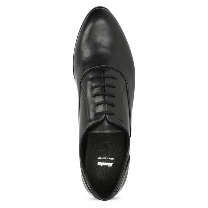 Dámské kožené černé Oxfordky bata, černá, 524-6668 - 17