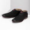 Zimní pánská kožená obuv černá bugatti, černá, 829-6049 - 16