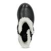 Dívčí kožené nízké kozačky s kožíškem mini-b, černá, 396-6601 - 17