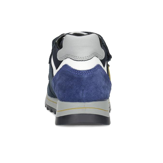 Modré dětské tenisky na suché zipy mini-b, modrá, 413-9606 - 15