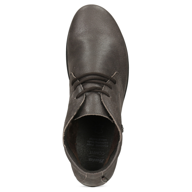 Dámská kožená kotníčková obuv comfit, hnědá, 596-4707 - 17