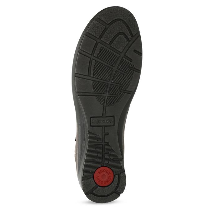 Dámská kožená kotníčková obuv comfit, hnědá, 596-4707 - 18
