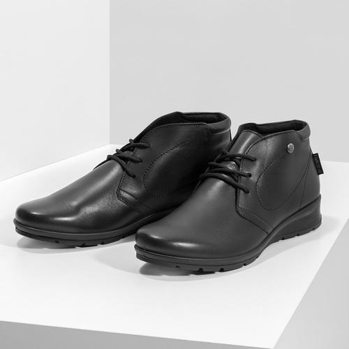 Kožená dámská kotníčková obuv comfit, černá, 594-6707 - 16