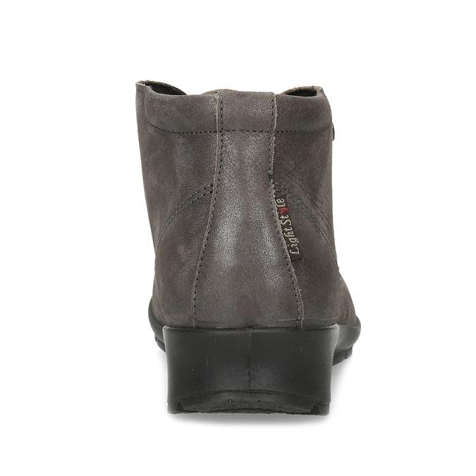 Dámská kožená kotníčková obuv comfit, hnědá, 596-4707 - 15