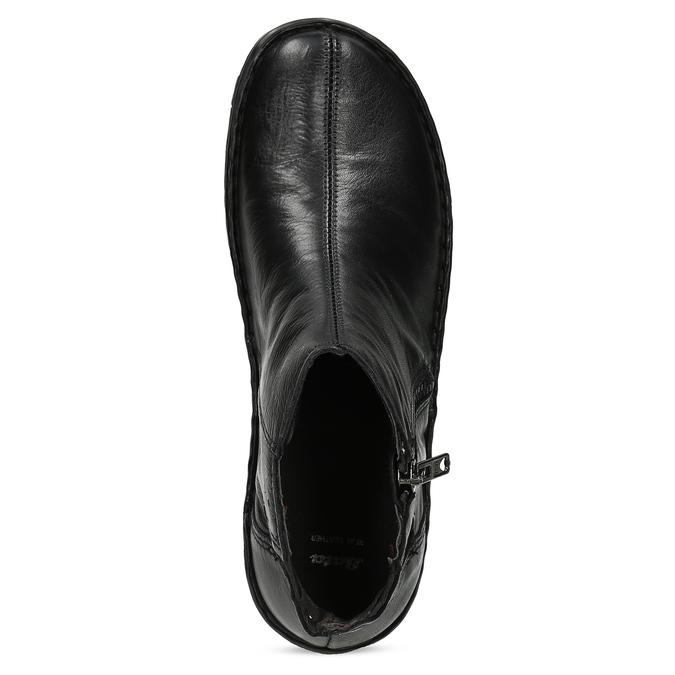 Dámská kotníčková zimní obuv kožená bata, černá, 594-6708 - 17