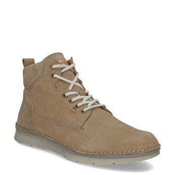 Hnědá kožená pánská kotníčková obuv weinbrenner, hnědá, 846-3719 - 13