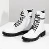 Dámská bílá kožená kotníčková obuv bata, bílá, 594-1709 - 16