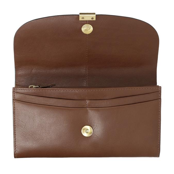 Dámská kožená peněženka hnědá bata, hnědá, 944-3228 - 15