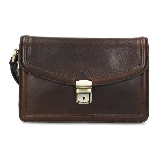 Kožená pánská taška do ruky bata, hnědá, 964-4315 - 26